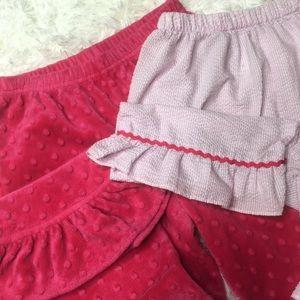 Bundle lot medium girls pants bell bottoms pink 2